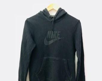 FREE SHIPPING!!! Vintage Nike Hoodies Big Logo Black Colour Large Size