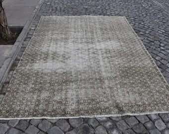 turkish area rug, bohemian rug, Free Shipping 6.6 x 8.9 ft. rustic floor rug, anatolian rug, anatolian rug, natural rug, organic rug, MB454