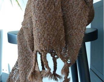 Handwoven alpaca scarf