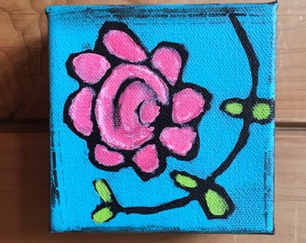 Flower with vine painting