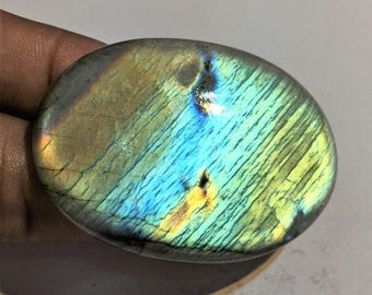 113.3 Cts 100% Natural Medagascar's Labradorite Cabochon Multi Fire Polished Cabochon Healing Quartz Oval Shape 52x38x7 mm N#782-9