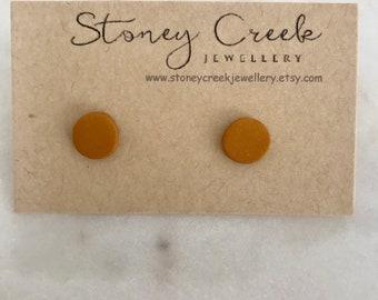Mustard color earrings