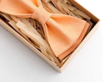 Peach Bow Tie, Mens Bow Tie, Kids Bow Tie, Groomsmen Bow tie, Boys Bow Ties, peach wedding, bow tie for men