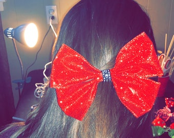 Large glitter hair bow