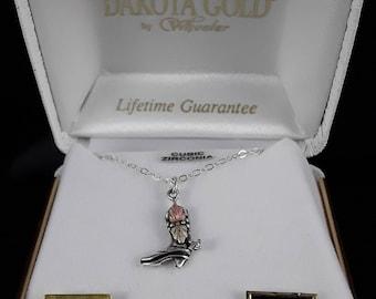 Dakota Black Hills Gold Cowboy Boot Pendant Necklace