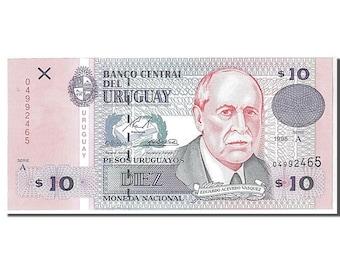 uruguay 10 pesos uruguayos 1998 km #81a unc(65-70) 04992465