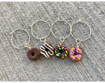 Donut wine charm- wine glass jewelry, candy charms, donut gifts, gifts for Mother's Day, gifts for women, wino gifts, funny gifts for friend