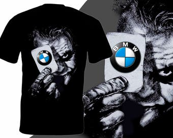 Joker BMW Logo Car BATMAN T-shirt Design Best For Gift Made by Kornit Printer