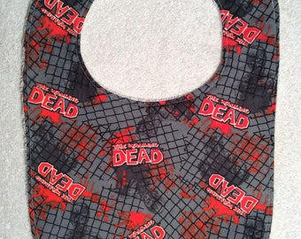 Flannel Walking Dead Baby Bibs