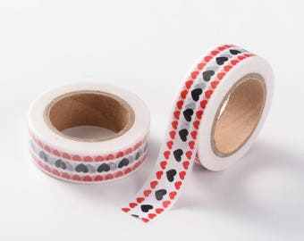 Heart/Valentines Washi Tape - 15mm x 10 Meters - #SW111