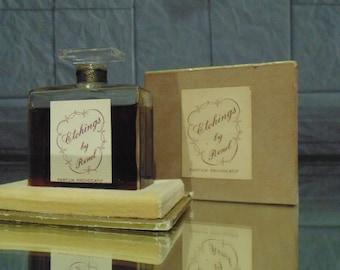"""Vintage Perfume """"Etchings"""" by Renel"""