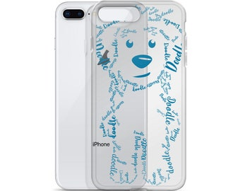Blue iPhone Case GoldenDoodle LabraDoodle