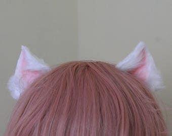 White Peach Fuzz Ears