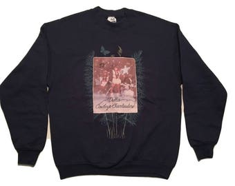 Dallas Cowboys Sweatshirt Screen Stars Vintage 90s Cowgirls Usa - Sz L