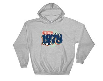 Vintage & Retro 1978 Style Hooded Sweatshirt Hoodie