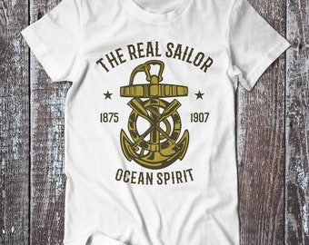 Ocean Spirit , Anchor Tee , Graphic T-shirt , Sailor Shirt