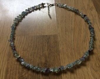 Fluorite chip necklace