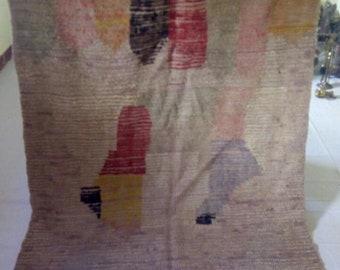 "Morocann vintage berber rug""bojaad rug""226x148cm"