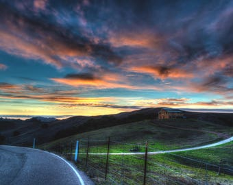 Countryside Sunset Canvas Photo