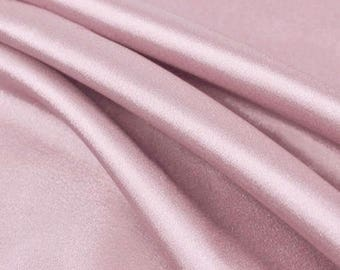 Payton DUSTY PINK Faux Silk Charmeuse Satin Fabric by the Yard - 10017