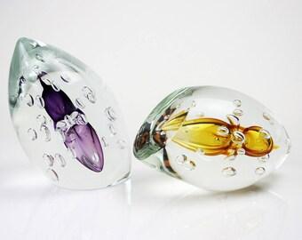 Glass object ' ' Bubbles ' ' Bohemian crystal