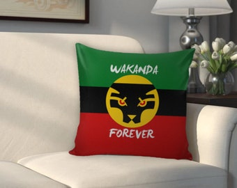 Wakanda Forever Couch PIllow