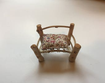 Pink Floral Miniature Chair