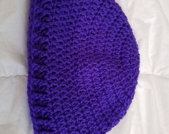 Purple winter hat