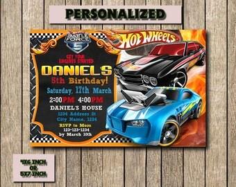 Hot Wheels,Hot Wheels Invitation,Hot Wheels Birthday,Hot Wheels Birthday Invitation,Hot Wheels Party,Hot Wheels Printable,Personalized