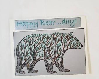 Forest Bear Birthday Card