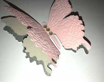 3d butterfly cut out etsy for Room decor embellishment art 3d
