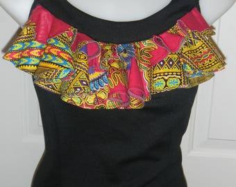 Lady's Sleeveless Ruffled top