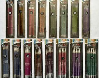 Knit Pro Zing Aluminium Double Pointed Knitting Needles, Set of 5