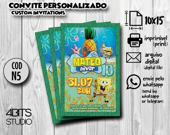 Sponge BOB Invitation