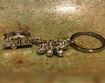 Glamping Camper Keychain