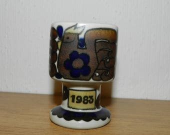 Eierbecher eggs cup Arabia Finland 1983 Raija Uosikkinen