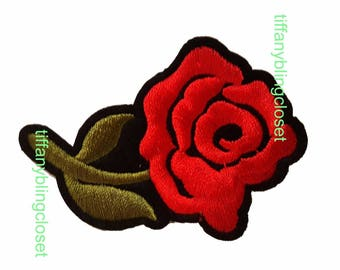 rose flower ribbon iron on high quality  sequins / embroidered