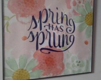 Spring has sprung wall art