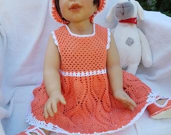 Baby Girls Body Dress + Panama + Booties