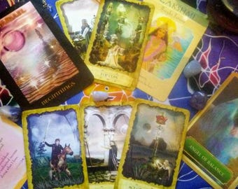 Full 10 card Tarot/Oracle Intuitive Reading and Angel Channeling