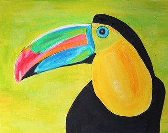 Tucan, original painting