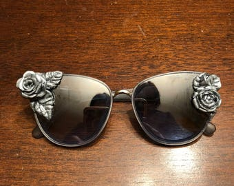 Silver Roses Sunglasses Art