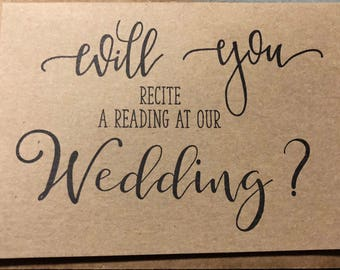 Will you recite a reading Wedding Card Brown Kraft