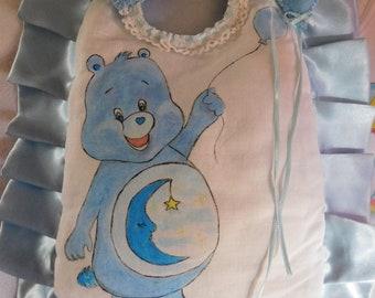 Cockade baby birth, customizable staple birth, hand painted baby outfit, baby set, customizable outfit