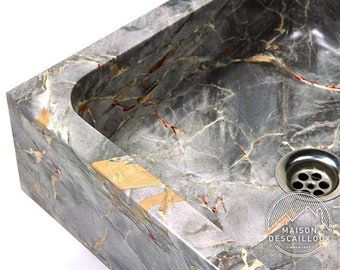 "Bowl for square - Sarrancolin marble ""Versailles"""