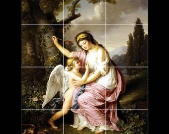 S-M-L-XL Ceramic Art Tile Mural Backsplash Venus Disarming Eros