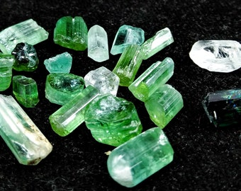 50.30 Unheated& Natural Green Tourmaline Rough Lot