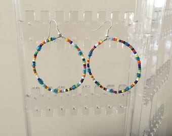 Multi Coloured Hoops