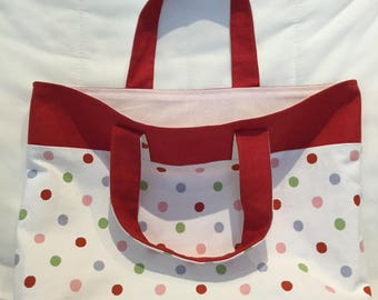 Cotton tote bag handmade with CissouNatou