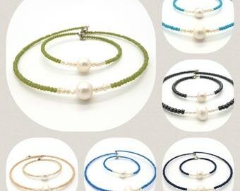 Bracelet Necklace Natural Pearl crystals
